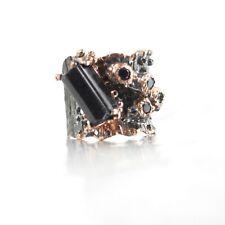 Ring 925 Silber Edelsteine schwarzer Turmalin