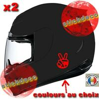 2 stickers autocollant rhesus Groupe Sanguin signe motard bike casque moto auto