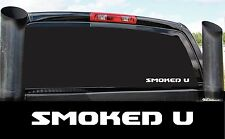 SMOKED U DIESEL 4X4 STICKER DECAL COUNTRY PICKUP POWER STROKE
