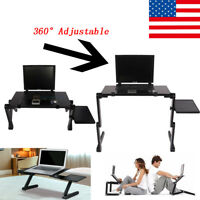 Adjustable Portable Folding Table Home Bed Desk Stand For Computer Laptop PC US