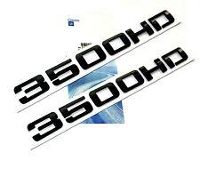 2x OEM Black 3500HD 3500 HD Nameplate EMBLEMS Badge for GM Silverado Sierra NewW