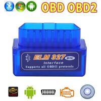 Wireless V2.1 Obd2 Obd Ii Super Mini Elm327 Bluetooth Interface Car Scanner Diag