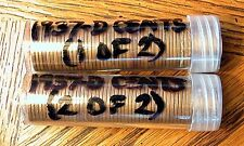 Lincoln Cent Rolls   1937 - D   100 Wheat Pennies