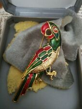Brooch ( Boxed) Colourful Parrot Costume Jewellery
