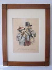 Louis-Leopold Boilly, Les Grimaces 'Les Mangeurs de Raisins' Litho um 1825