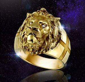Bague Homme Tête De Lion avec yeux en pierres brillantes Du 59 Au 69