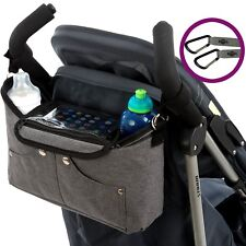 "BTR ""Tootles"" Buggy Organiser Pram Bag PLUS 2 x Pram Clips & Mobile Phone Pocket"