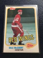 VINTAGE  1981-82 Topps #21  DALE McCOURT Red Wings  NM/MT w/Top Loader