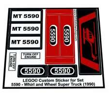 Replica Pre-Cut Sticker for Model Team set 5590 - Whirl & Wheel Super Truck
