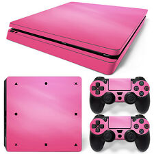 SONY PS4 PlayStation 4 Slim Skin Adesivo Pellicola Protettiva Set - FUCSIA Motif