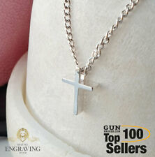 925 Sterling Silver Tiny Cross Necklace, Women Cross Necklace, Birthday Gift