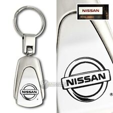 Nissan Logo Tear Drop Authentic Chrome Key Fob Keyring Keychain Lanyard