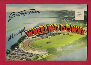 Wheeling Island WV, WHEELING DOWNS Horse Race Track, Willys Jeep, 18 view folder