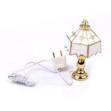 1/12 Luz lampara de mesa en miniatura de casa de munecas W3A7