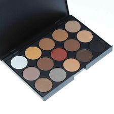 15 Colors PRO Warm Matte Shimmer Eyeshadow Palette Makeup Cosmetic Pop.