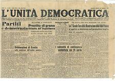 L'UNITA' DEMOCRATICA 25 MAGGIO 1946
