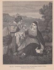 Madonna con coniglio bianco, da Tiziano Xilografia1877