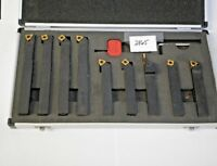 """9 PC. 5/8"""" INDEXABLE CARBIDE TURNING TOOL SET #PT-5/8 **NEW** PIC#2865"""