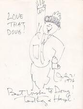 CARTOONIST TED KEY orig. 1976 DRAWING of HAZEL - INSCRIBED & SIGNED by KEY