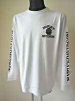 Harley Davidson Skull Shirt langarm Pullover Longshirt Pulli weiß 99092-14VM