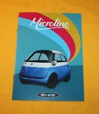 Microlino 2018 Prospekt Brochure Catalog Prospetto Folder Broschyr Isetta