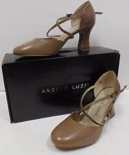 New Angelo Luzio Cabaret Fusion Rita Suede Sole Leather Ballroom Shoes 2