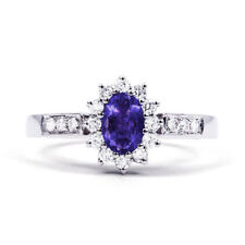Tanzanite Platinum Oval Fine Rings