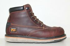 Timberland PRO Mens Gridworks 6'' Soft Toe Work Boots Sz 9.5 M Brown Leather