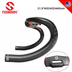 US 31.8 Handlebar Carbon Fiber Road Bike Drop Bar 400/420/440mm Aero Handlebars