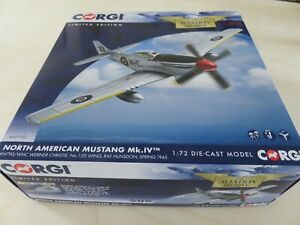CORGI AA27703 1:72 SCALE NORTH AMERICAN MUSTANG MKIV **NEW AND BOXED**