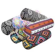 al Geometric Stripe Cotton Canvas Yoga Case Bolster Cushion Cover Custom Size