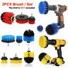 3Pcs/Set Tile Grout Power Scrubber Cleaning Drill Brush Combo Cleaner Tub S V5U9