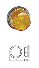 Indicator Lamp - Amber - Similar Narva 85830 Hella 2100 2077