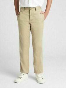 Gap Boys Khaki Straight Stretch School Uniform Pants 5 $35 Nwt