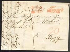 ÖSTERREICH 1841 VORPHILABRIEF von WIEN nach LEIPZIG FRANCO GRENZE(D0859