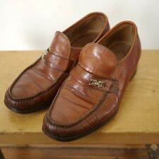 Vintage Florsheim Imperial Brown Leather Mod Moccasin Mens Loafers 8E 41