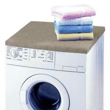 Betz Waschmaschinenbezug Trockner Abdeckung 100% Polyester 60x60x4cm Farbe taupe