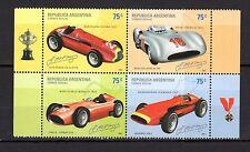 Argentina 2001  Racing Cars MNH --(cv 12)