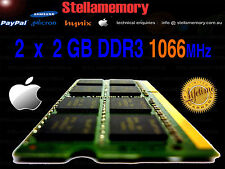 2 x 2GB 4gb kit Ram Apple iMac MacBook Mac Mini Memory 1066MHz DDR3 PC3-8500