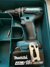 Makita DHP485 18V LXT Brushless Combi Drill, 4.0Ah Battery & Charger makpac case