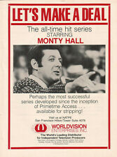 Monty Hall Let's Make A Deal 1980 Ad- The all-time hit series  Worldvision