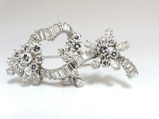 5.00ct Diamonds cluster brooch pendant pin Platinum Estate Cluster Cocktail