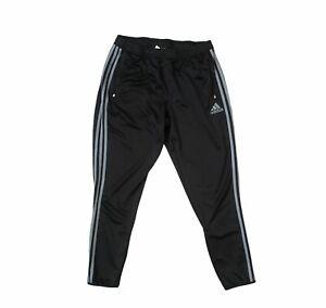 B20) Authentic Adidas Tricot Track Pant Men's Training 3 Stripe XL Black/ Gray
