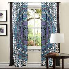 Indian Hippie Bohemian Door Curtain Window Valance Hanging Drapes Valance 2panel