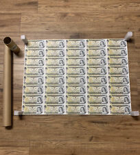 Canadian 1973 ,CANADA 1$ DOLLAR BILL UNCUT SHEET.