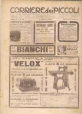 CORRIERE DEI PICCOLI 23 OTTOBRE 1910 anno II NUMERO 43  CON SOVRACOPERTINA