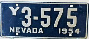 WHEATIES MINI LICENSE NEVADA 1954