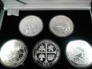 2019 5 Coin ATB 5 oz Silver America the Beautiful with Display Box