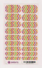 Authentic Jamberry Candy Chevron TBT - Full Sheet Retired Rare