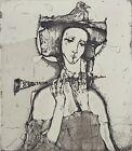 IVAN RUSACHEK, Art Print, Original Hand Signed Etching, Ex Libris Bookplate,2008